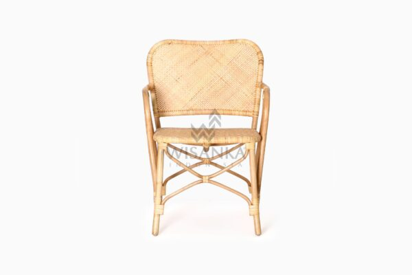Vivi Wicker Rattan Natural Chair front