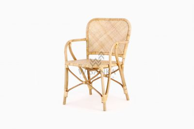 Vivi Wicker Rattan Natural Chair perspective