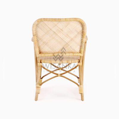 Vivi Wicker Rattan Natural Chair rear