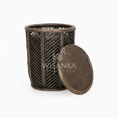 Asha Wicker Round Rattan Side Table Large & Small 2 in 1 1 Piece