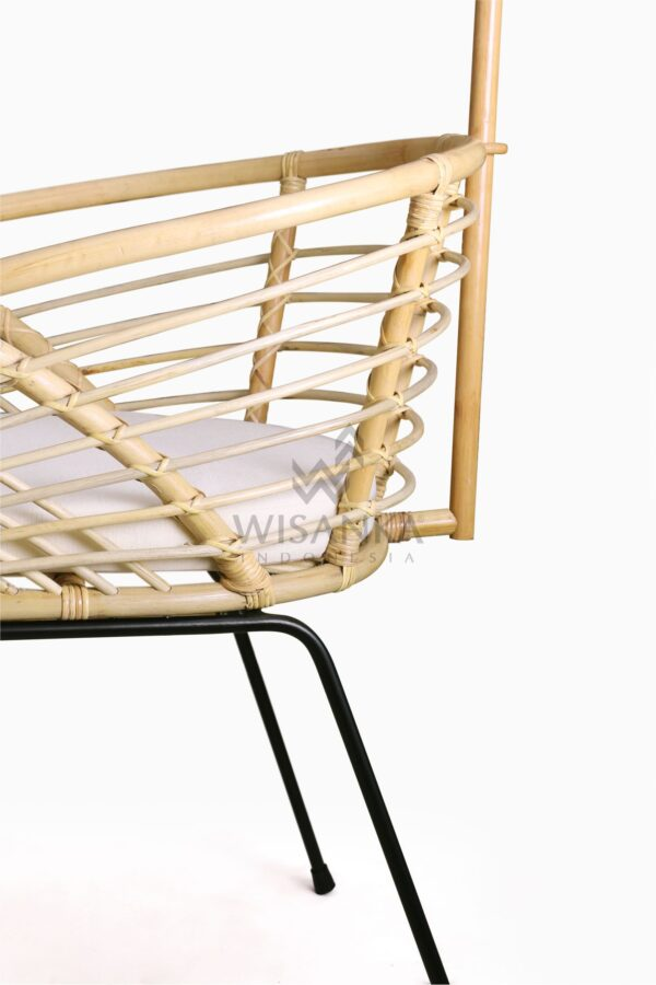 Catalena Wicker Rattan Bassinet with Cushion Detail