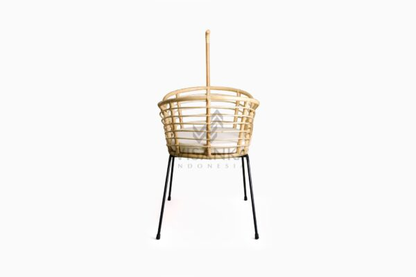 Catalena Wicker Rattan Bassinet with Cushion Front