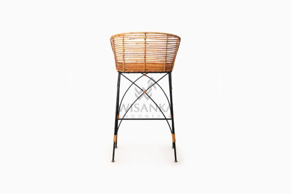 Chloe natural rattan wicker Bar Chair rear