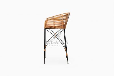 Chloe natural rattan wicker Bar Chair side
