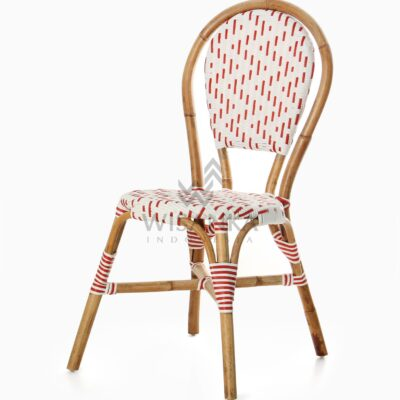 Aren Bistro Chair Aren Wicker Dining Chair perspective