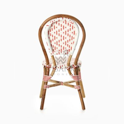 Aren Bistro Chair Aren Wicker Dining Chair rear