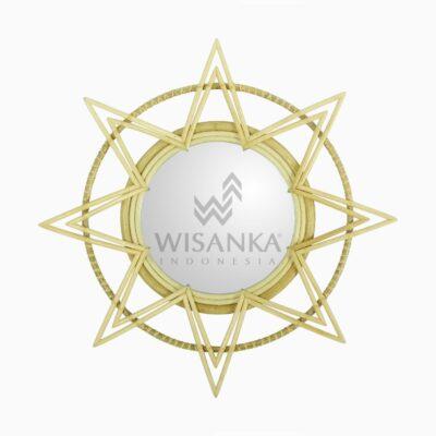 Asila Rattan Mirror - Natural Wicker