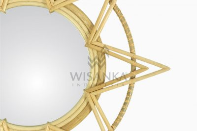 Asila Rattan Mirror - Natural Wicker Detail