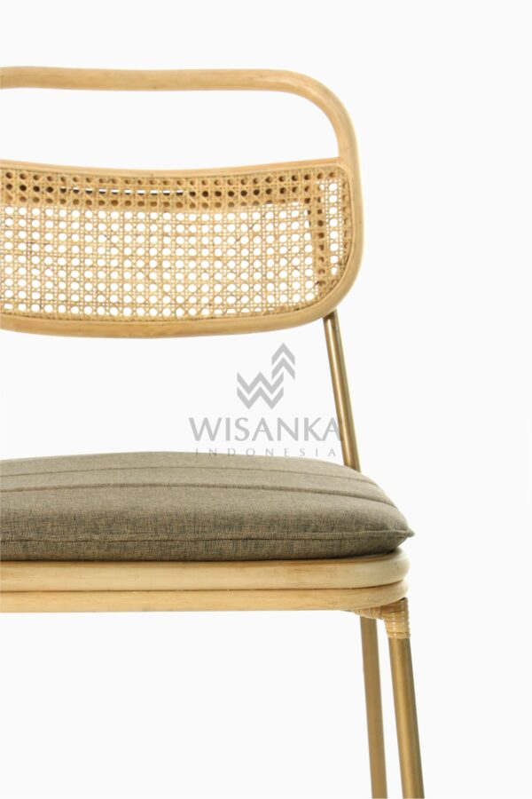 Akina Natural Rattan Dining Side Chair Detail 1