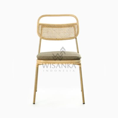 Akina Side Chair - Dining Natural Rattan Furniture front