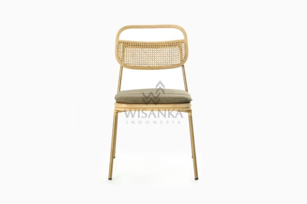 Akina Natural Rattan Dining Side Chair front