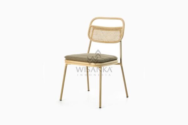 Akina Natural Rattan Dining Side Chair perspective