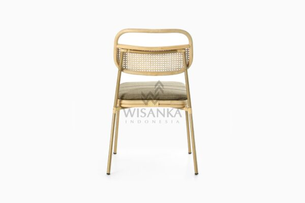 Akina Natural Rattan Dining Side Chair rear