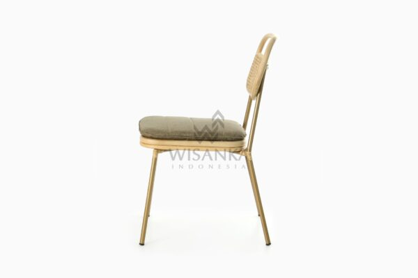 Akina Natural Rattan Dining Side Chair side