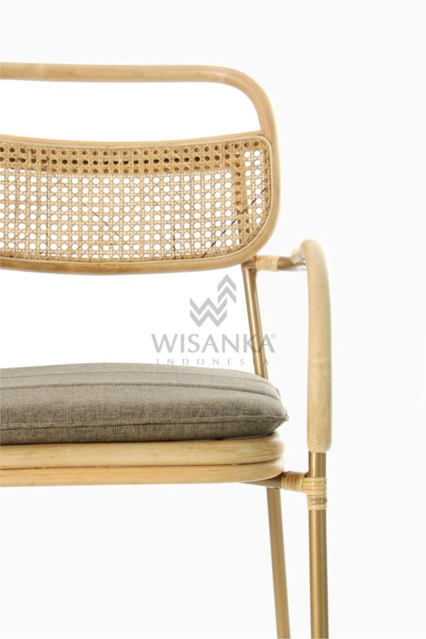 Akina Wicker Dining Arm Chair from Natural Rattan Detail 1