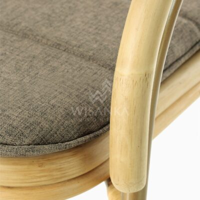 Akina Dining Arm Chair - Natural Rattan Furniture Detail 1