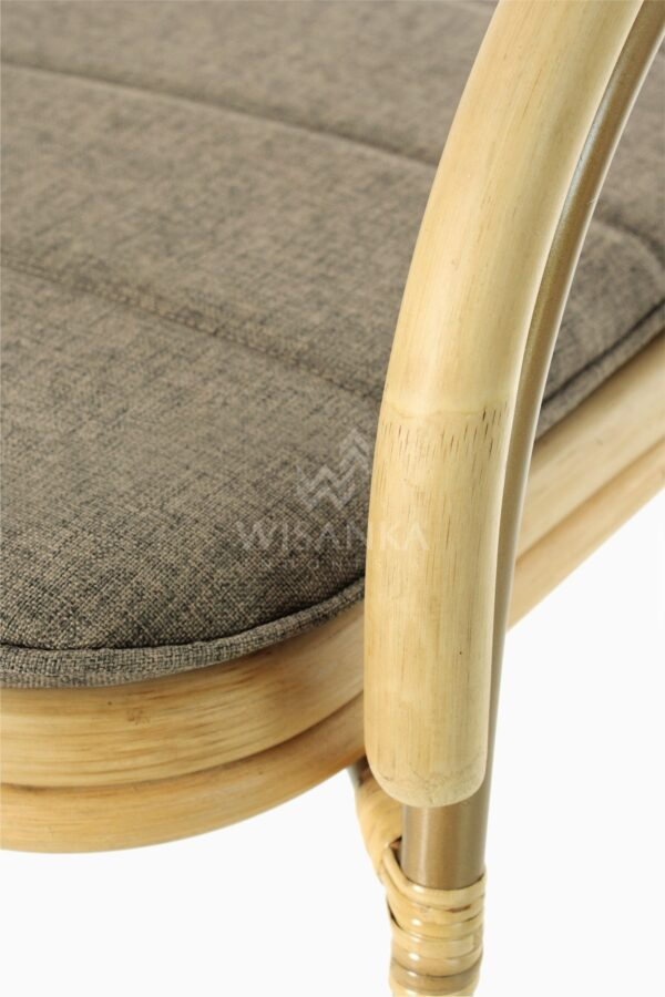 Akina Wicker Dining Arm Chair from Natural Rattan Detail 2