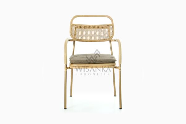 Akina Wicker Dining Arm Chair from Natural Rattan front