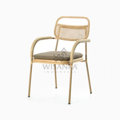 Akina Dining Arm Chair - Natural Rattan Furniture