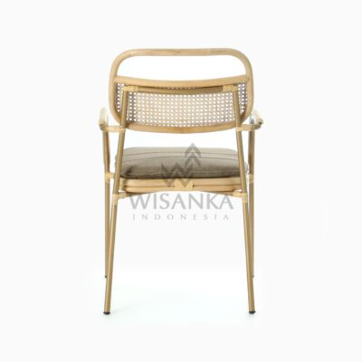 Akina Dining Arm Chair - Natural Rattan Furniture rear