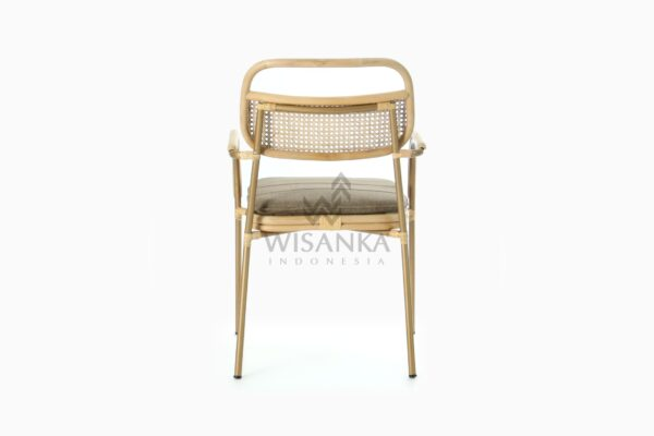 Akina Wicker Dining Arm Chair from Natural Rattan rear