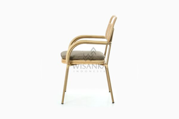 Akina Dining Arm Chair - Natural Rattan Furniture side