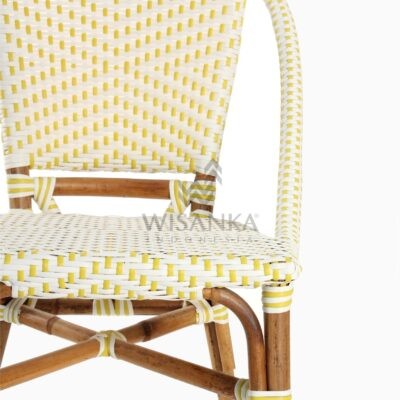 Elle Natural Wicker Dining Arm Chair Detail 1