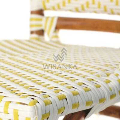 Elle Natural Wicker Dining Arm Chair Detail 2