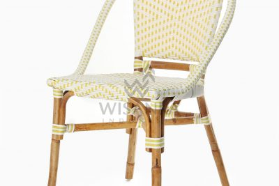 Elle Natural Wicker Dining Arm Chair perspective