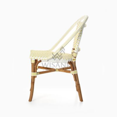 Elle Natural Wicker Dining Arm Chair side