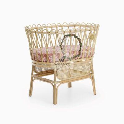 Chiko Natural Wicker Rattan Baby Bassinet