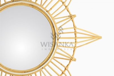 Gemma Rattan Mirror for Kids Furniture Decor Detail