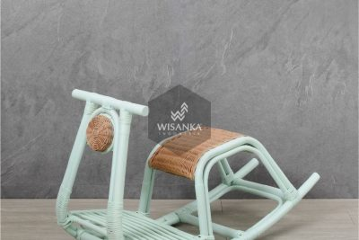 Colby Natural Rattan Kids Rocker