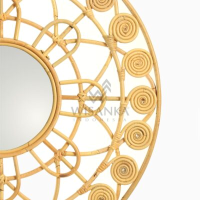 Dylan Natural Rattan Mirror For Nursery Room Decor detail