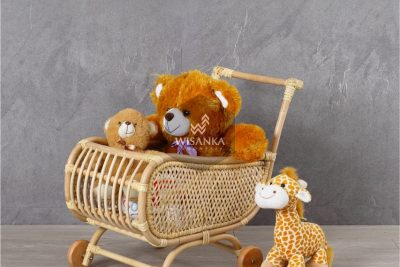 Lisa Wicker Natural Rattan kids doll Pram