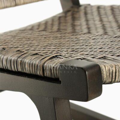 Muzu Lite Rattan Wooden Chair Detail 2