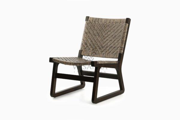 Muzu Lite Rattan Wooden Chair perspective