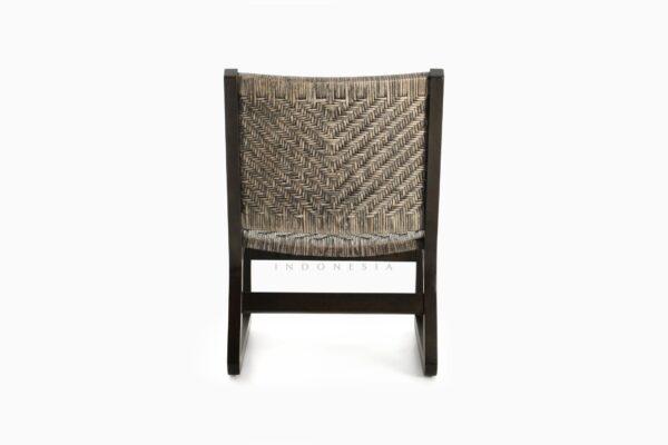 Muzu Lite Rattan Wooden Chair rear