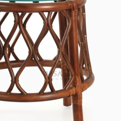 Cote Natural Rattan Side Table Detail 1