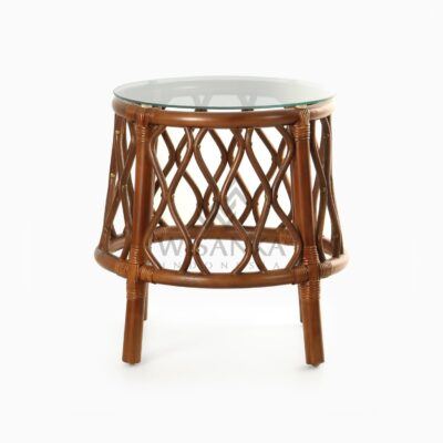Cote Natural Rattan Side Table front