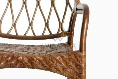 Cote Vintage Natural Rattan Arm Chair Detail