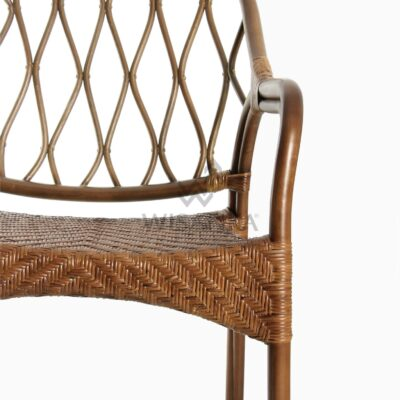 Cote Vintage Natural Rattan Arm Chair Detail