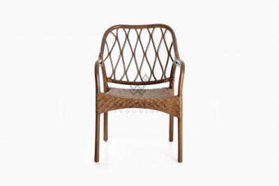 Cote Vintage Natural Rattan Arm Chair front