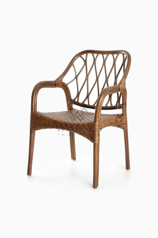 Cote Vintage Natural Rattan Arm Chair perspective