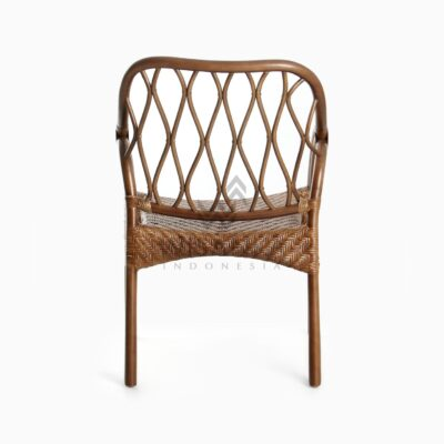 Cote Vintage Natural Rattan Arm Chair rear