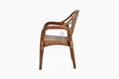 Cote Vintage Natural Rattan Arm Chair side
