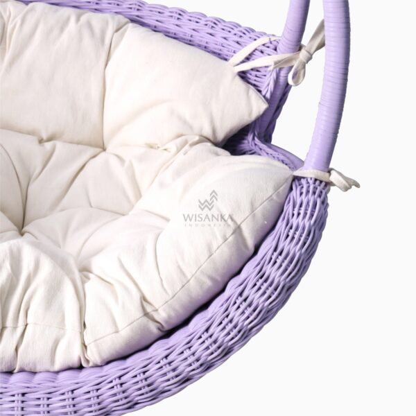 Rubby Rattan Hanging Chair with cushion for kids detail