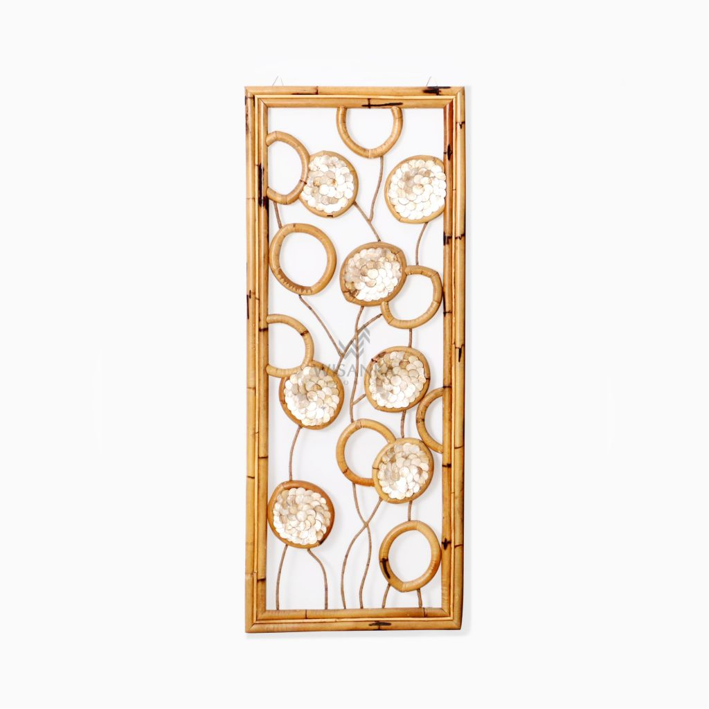 Belle Capiz Wall Decoration - Natural Rattan Furniture