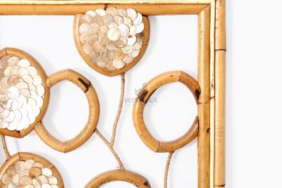 Belle Capiz Wall Decoration - Natural Rattan Furniture Detail