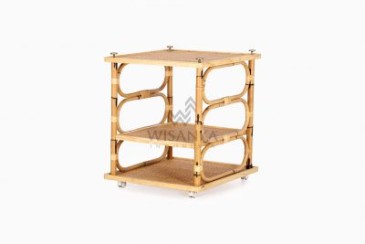 Doremi Natural Rattan Working Desk Table perspective